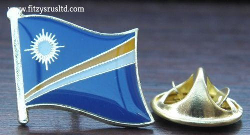 Marshall Islands Flag Lapel Hat Cap Tie Pin Badge Aolepn Aorkin Maje Majuro